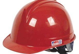 Mũ SSEDA mặt tròn màu đỏ có xốp núm vặn