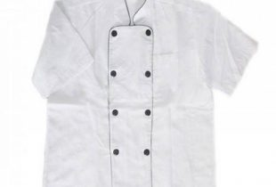 Áo bếp cộc tay 3 màu ( trắng, đen, đỏ )