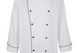 Áo bếp dài tay 3 màu ( trắng, đỏ, đen )