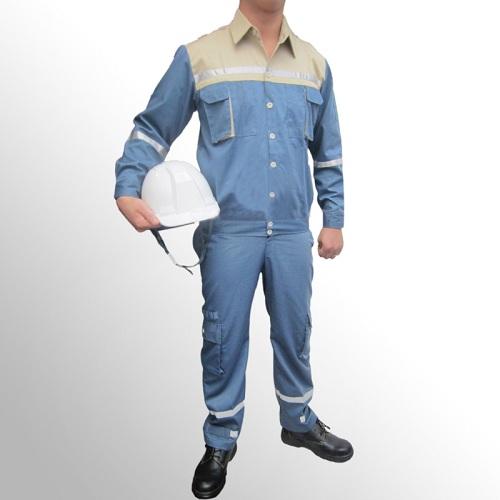 Quần áo bảo hộ túi hộp phối màu phản quang vải 7500