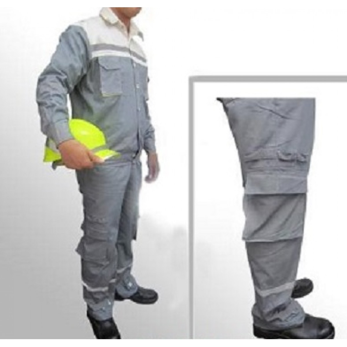 Quần áo bảo hộ túi hộp phối màu vải bạt dày chống cháy